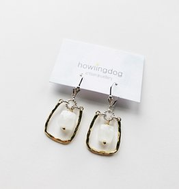 Howling Dog Abby Earring- Moonstone