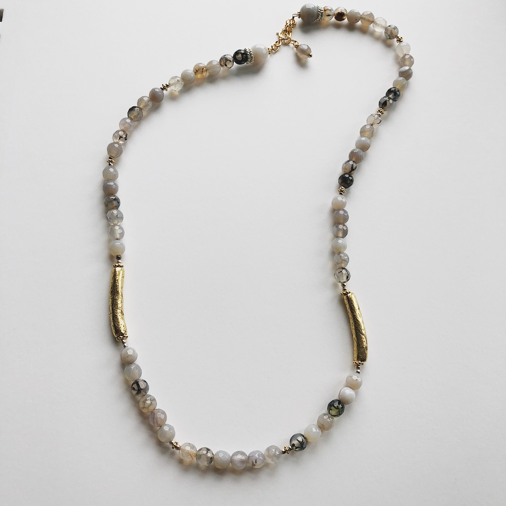 Howling Dog Hectate Necklace- Grey