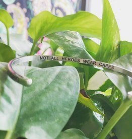 "Glass House Goods Inner Voice Bangle: ""Not All Heroes Wear Capes"""
