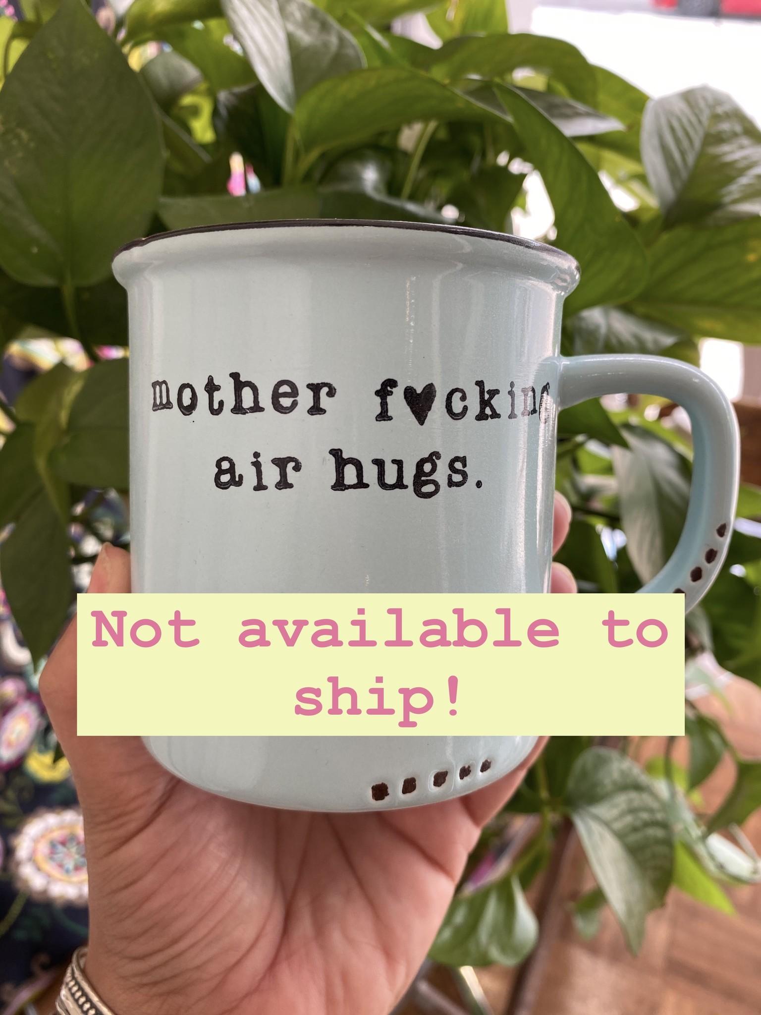 "Lace and Twig ""Air Hugs"" Mug- Blue"