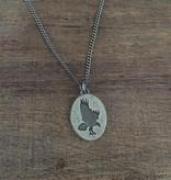 "Olive Cedar Unisex Osprey Necklace 22"""