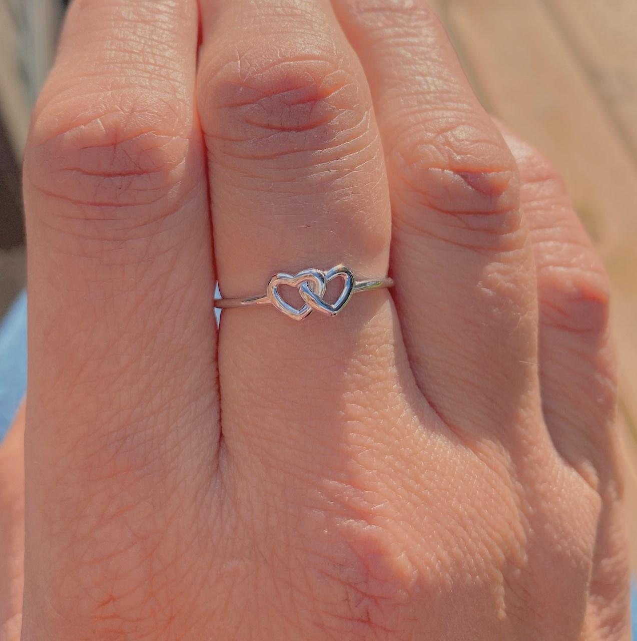 Bamiyan Linked Hearts Ring
