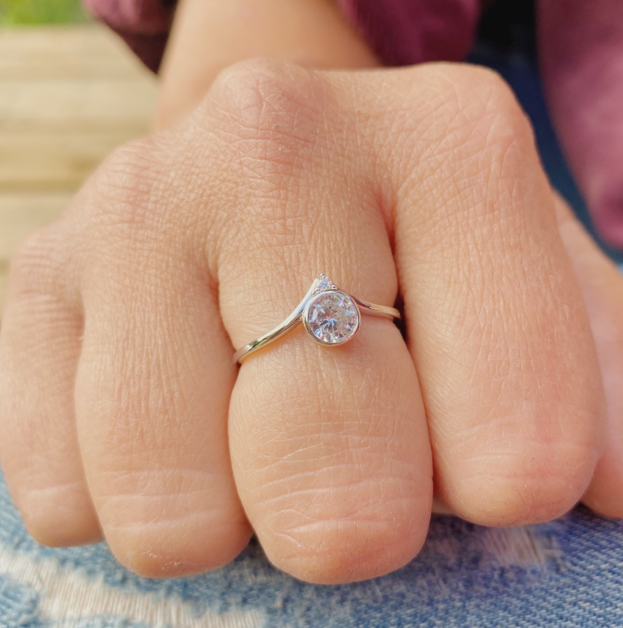 Bamiyan Silver CZ Ring