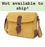 DaVan CLB544 Cotton/ Linen Shoulder Bag- Yellow