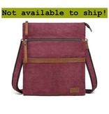 DaVan CLB564- Cotton/ Linen Shoulder Bag- Burgundy