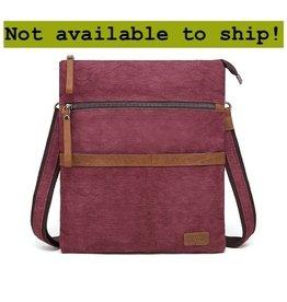 DaVan CLB564- Cotton/ Linen Shoulder Bag- Burgundy