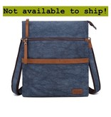 DaVan CLB564 Cotton/ Linen Shoulder Bag- Blue