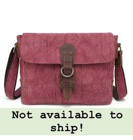 DaVan CLB544 Cotton/ Linen Shoulder Bag- Burgundy