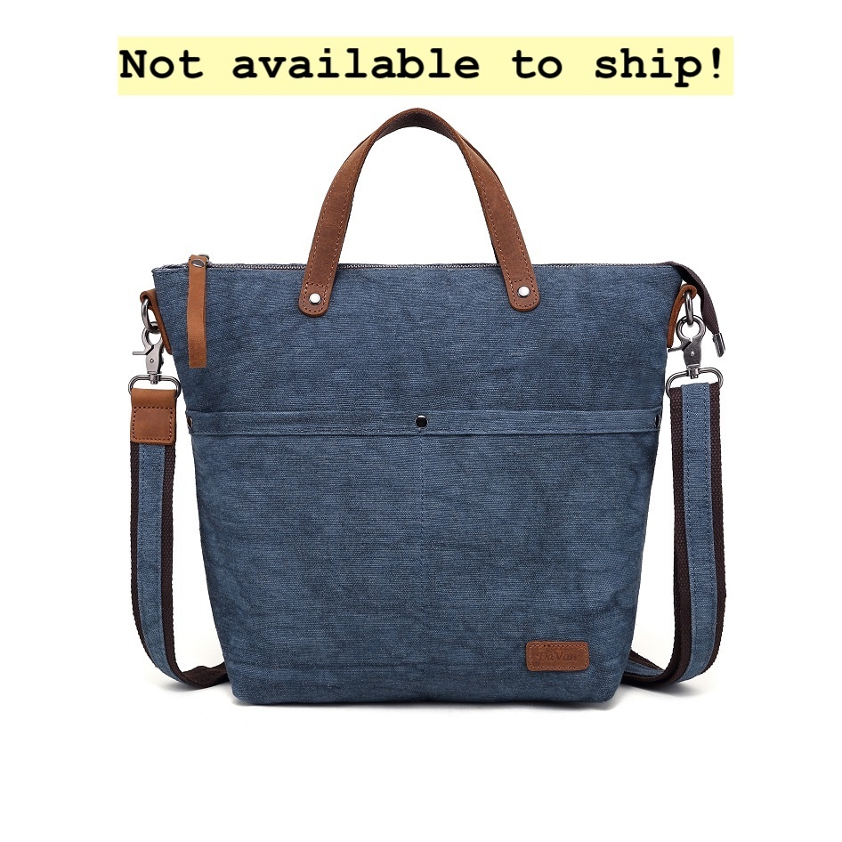 DaVan CLB566 Cotton/ Linen Bag- Blue