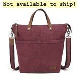 DaVan CLB566 Cotton/ Linen Bag- Burgundy