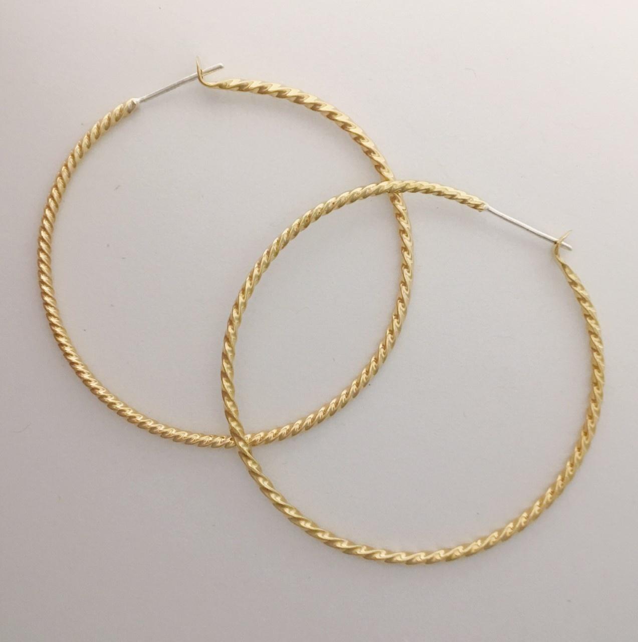 Lissa Bowie Brass Rope Hoop Earrings