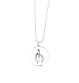 Glass House Goods Middle Finger Necklace- Stainless