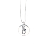 Glass House Goods Peace Sign Necklace- Stainless