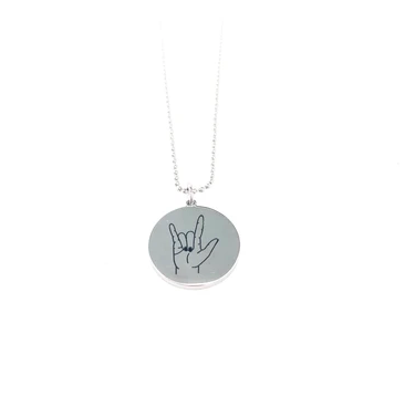 Glass House Goods I Love You Necklace- Stainless