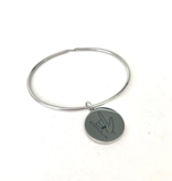 Glass House Goods I Love You Bangle- Stainless S/M
