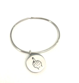 Glass House Goods Middle Finger Bangle- Stainless S/M