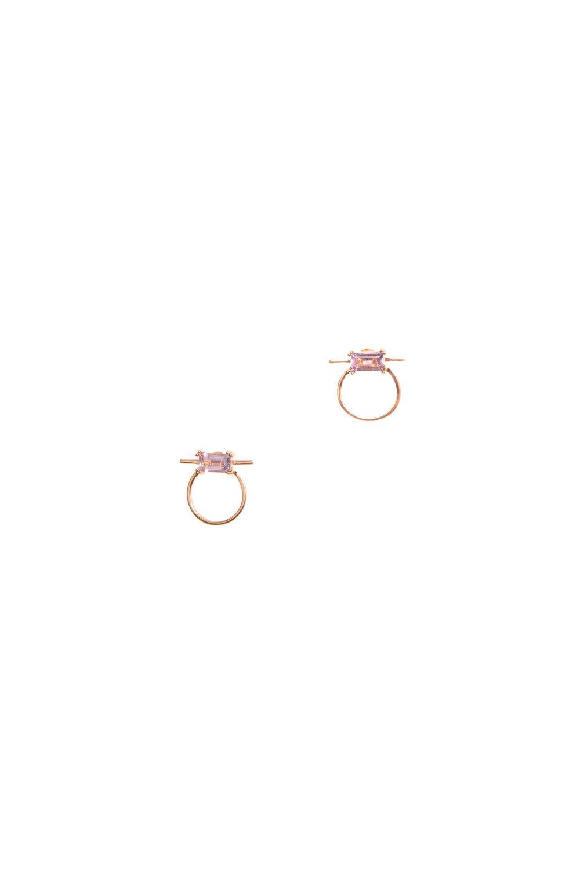 Hailey Gerrits Antigua Studs- Pink Amethyst