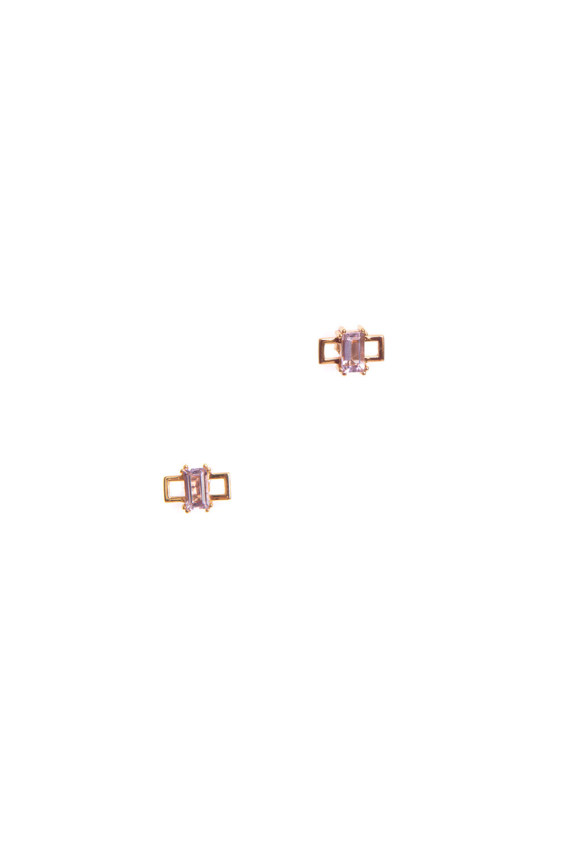Hailey Gerrits Havana Studs- Pink Amethyst