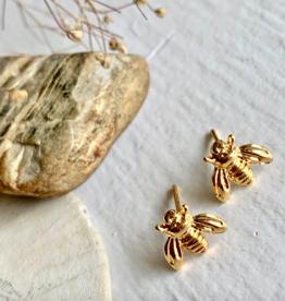 Pika & Bear Gold Bee Stud