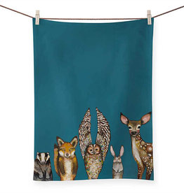 Green Box Forest Animals Tea Towel