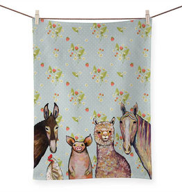 Green Box Farm Pals Tea Towel