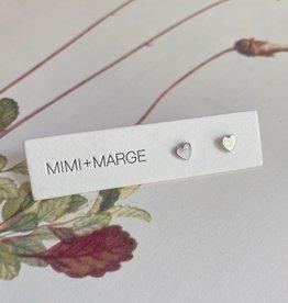 mimi + marge Tiny Shell Heart Studs