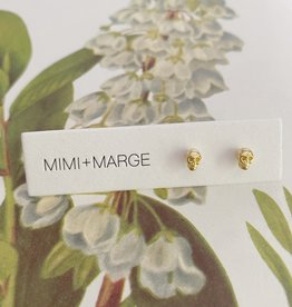 mimi + marge Tiny Gold Skull Studs