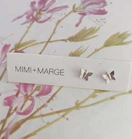 mimi + marge Tiny Butterfly Studs