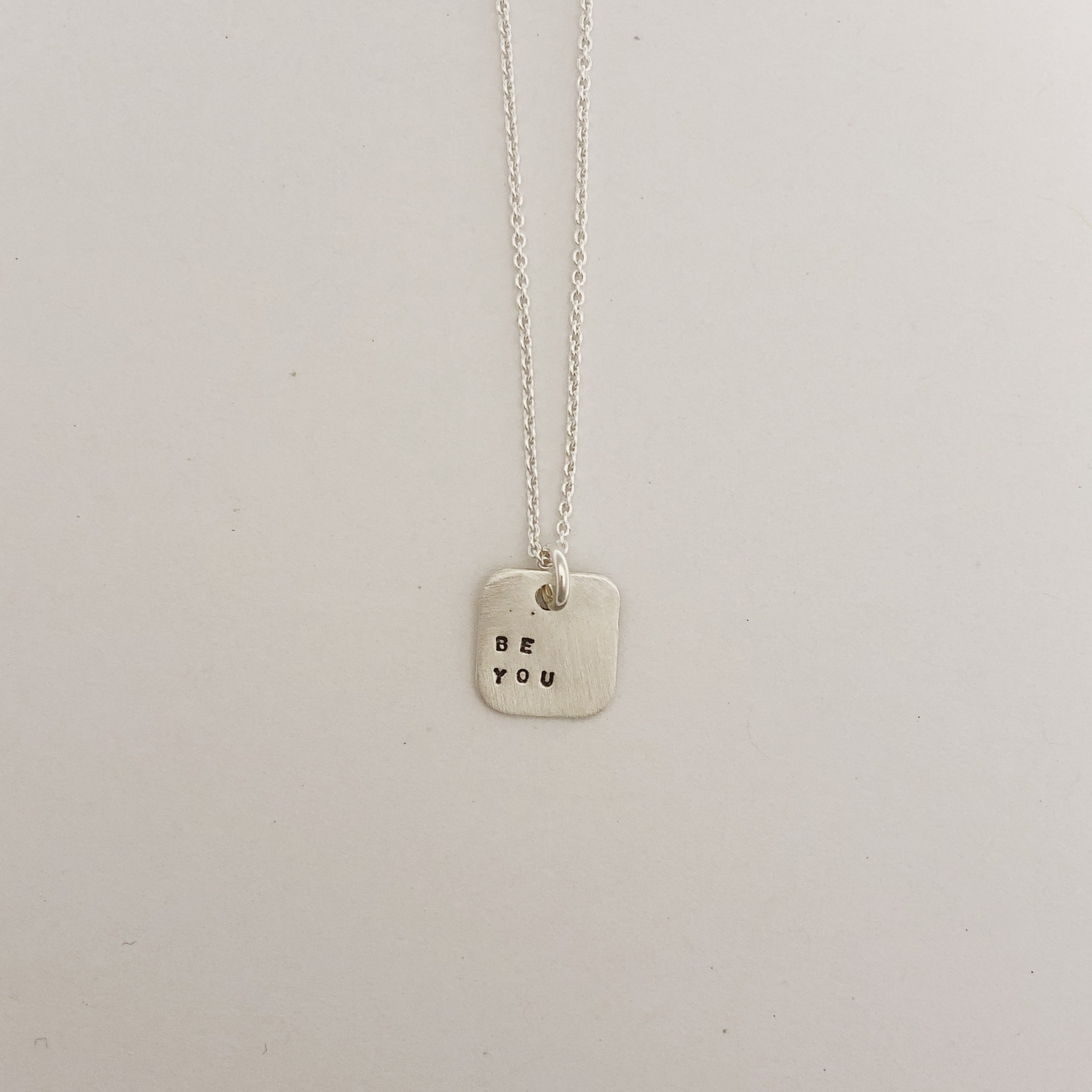 "Andrea Waines ""Be You"" Mini Mod Square Necklace 18"""