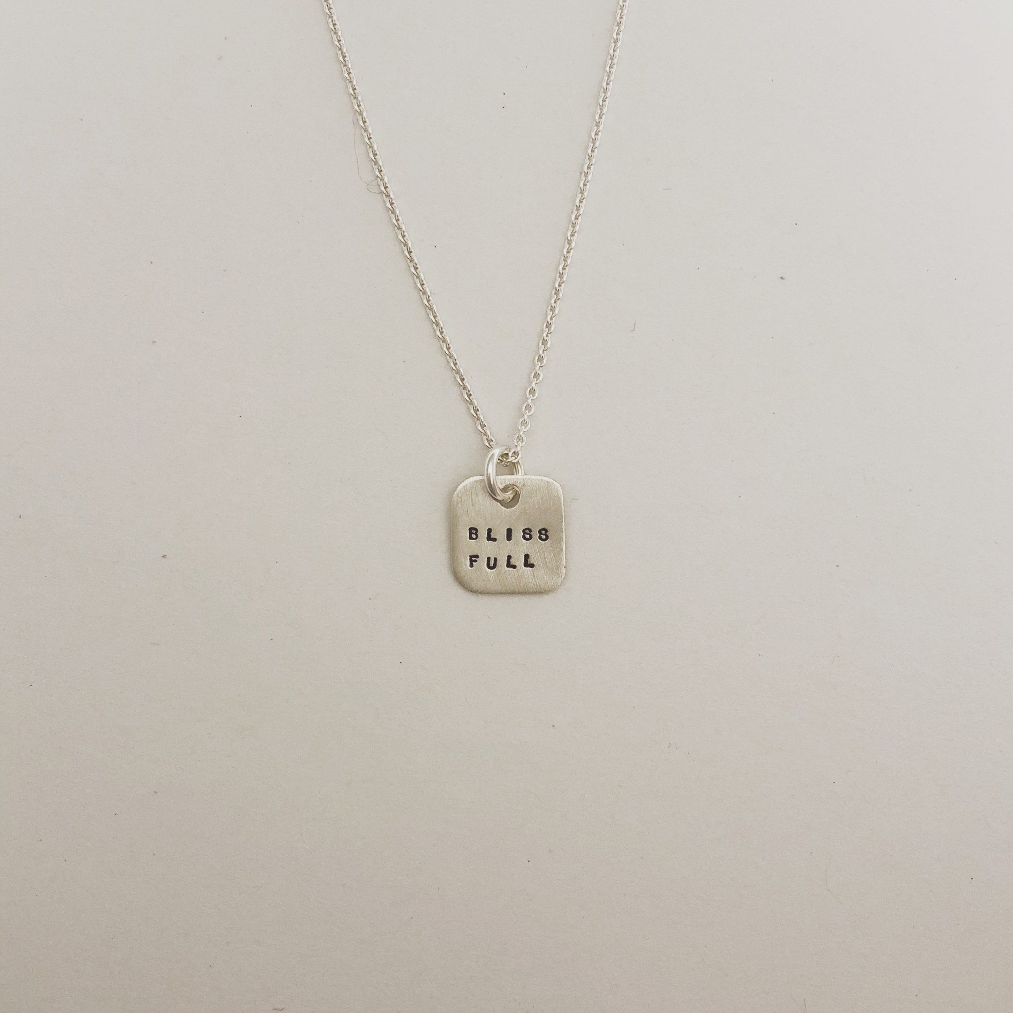 "Andrea Waines ""Bliss Full"" Mini Mod Square Necklace 18"""