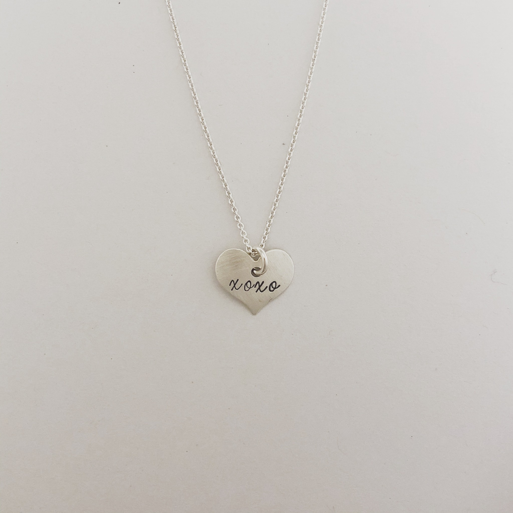 "Andrea Waines ""xoxo"" Inspired Heart Necklace"