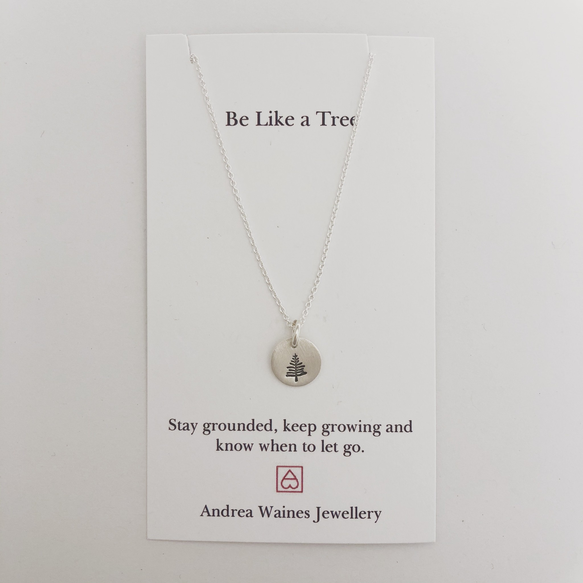 """Andrea Waines Be Like a Tree Necklace 18"""""""