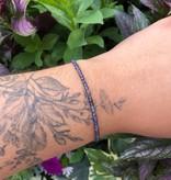 Dianne Rodger Rose Gold Gem Stacker Bracelet- Iolite