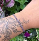 Dianne Rodger Silver Gem Stacker Bracelet- Iolite