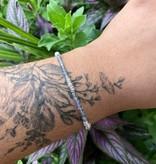 Dianne Rodger Silver Micro Twists Gem Stacker Bracelet- Labradorite