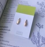 Tashi Brushed Gold Ear Seeds