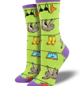 SockSmith Sloth on a Line Socks- Green