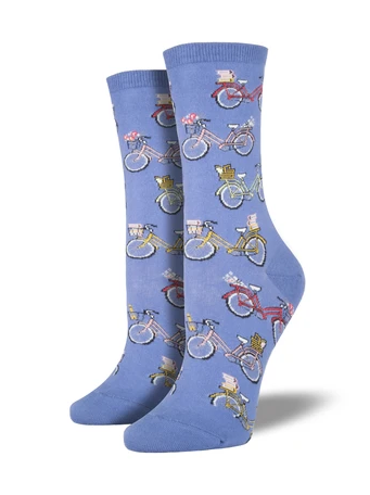 SockSmith Vintage Bike Socks- Perriwinkle