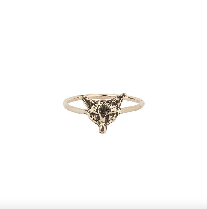 Pyrrha Pyrrha- 14K Gold Fox Ring Size: 9