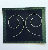 Valerie Davidson Sterling Round Wire Earrings