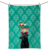 Green Box A Woman's Best Friend Tea Towel