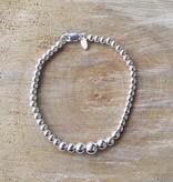 Graduated Sterling Silver Ball Bracelet
