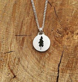 Olive Cedar Stand Alone Cedar Pendant