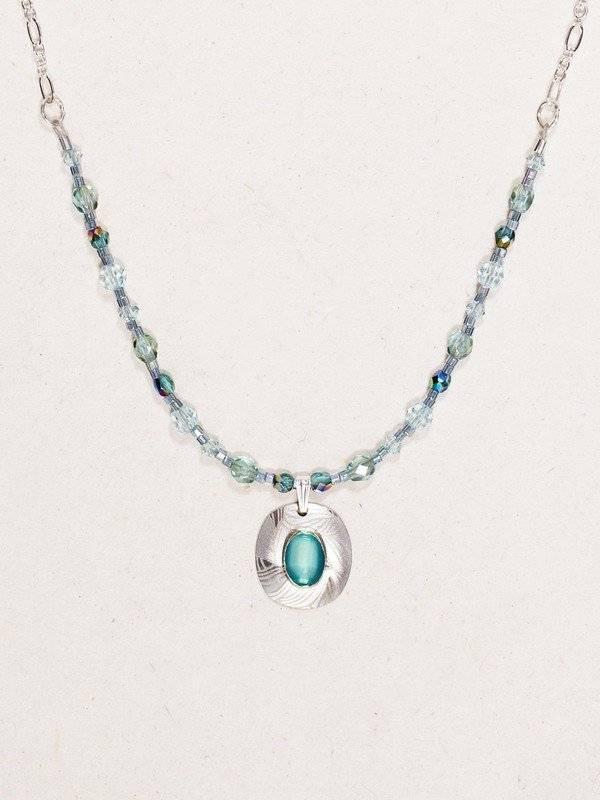 Synergy Necklace: Aqua & Silver