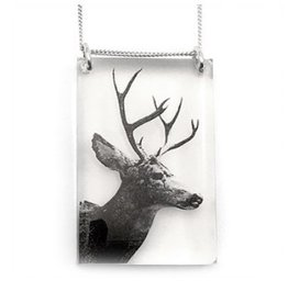 Black Drop Designs Black Drop Necklace Deer