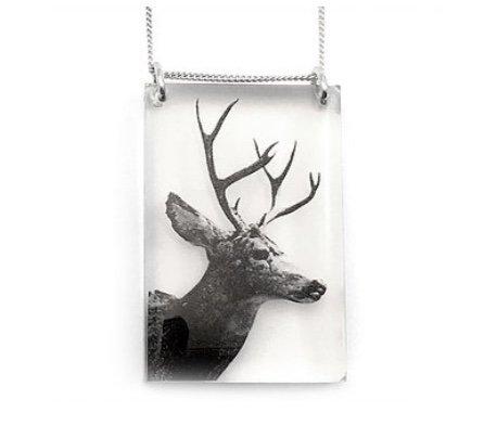 Black Drop Designs Black Drop Necklace Deer