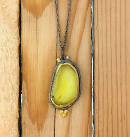 TYKHE Yellow Tourmaline Necklace