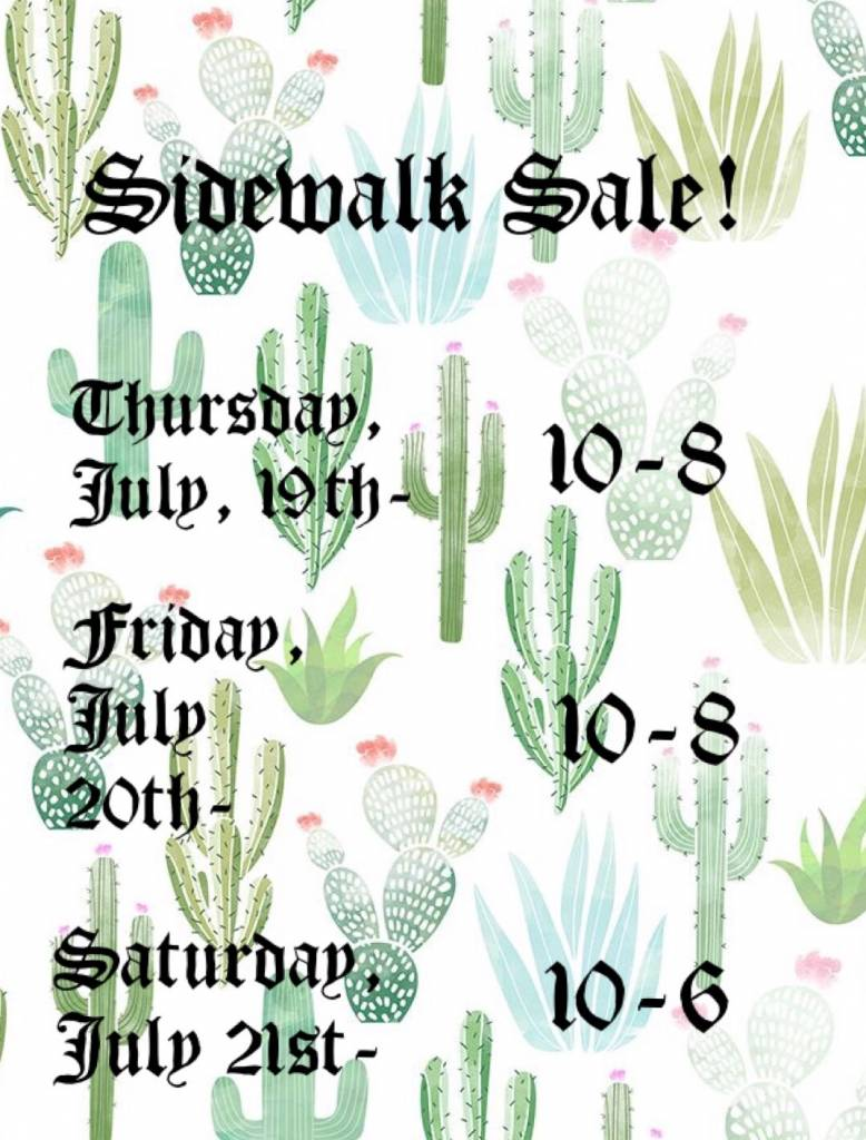 Annual Summer Sidewalk Sale!