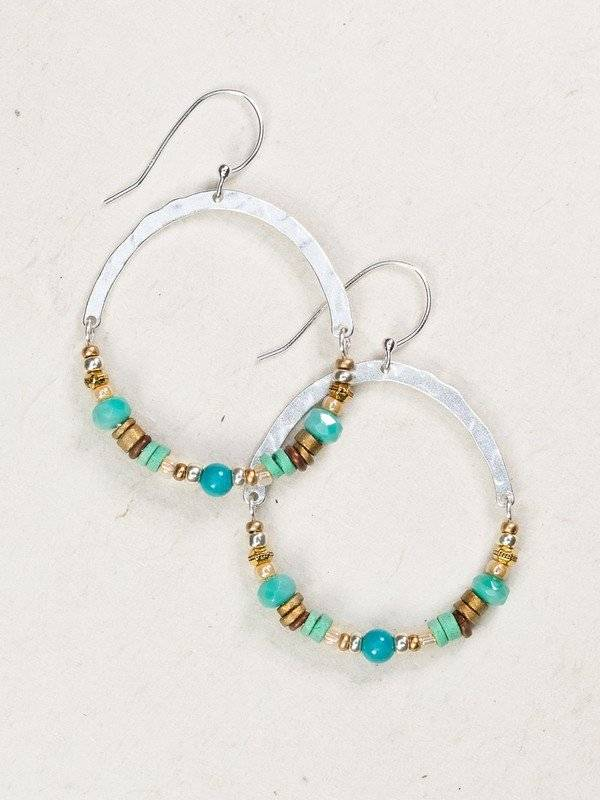 Holly Yashi Turquoise/Silver Terra Earring