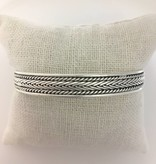 M Style Sterling Silver Roped Bangle